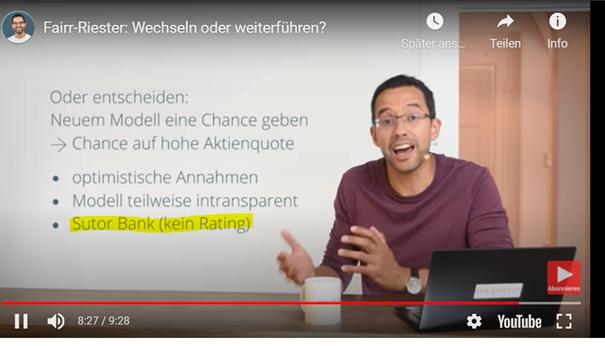 Screenshot aus dem Video von Finanz-Tip zu Sutor